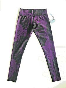 New VIE ACTIVE Women Purple Butterfly Elite Yoga Activewear Leggings S Free Ship