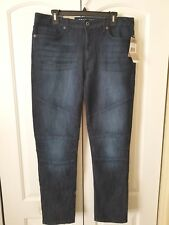 Kenneth Cole Reaction Men's Skinny Jeans NWT Blue 33W X 30L Low Rise Stretch