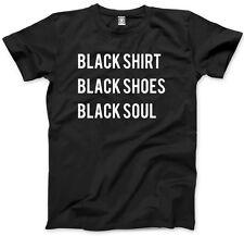 Camisa Negra Negro Zapatos Negro Soul-Goth Hombre Unisex T-Shirt
