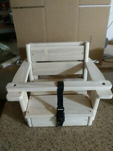 Reclaimed Baby Swing Wood Toddler Swing 10' Rope Each Side  unfinished