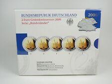 *** 2 Euro Gedenkmünzenset Deutschland 2006 PP Bundesländer Holstentor Hamburg *
