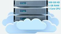 Storage Virtual Private Server VPS - 500 GB storage, Unlimited bandwidth
