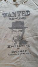 Mens Novelty Breaking Bad Heisenberg Wanted Cotton Tshirt, Size L Large