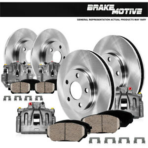 Front + Rear Brake Calipers & Rotors & Pads For Enclave Traverse Acadia Outlook