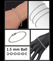 Minimalist Silver Ball n' Chain Bracelet Surgical Stainless Steel  Bangle by MGK