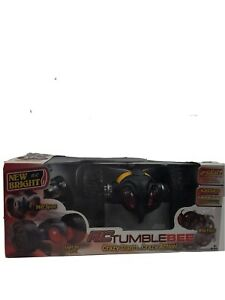"""RC TUMBLE BEE Vehicle 10"""" Remote Control Light up Eyes 360 Wild flips (pair)New"""