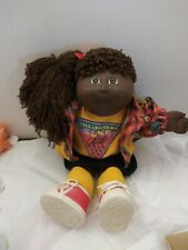 Vintage Cabbage Patch Kids Soft Posable African American Girl Doll Hasbro