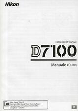 Nikon D7100 D-7100  manuale istruzioni Italiano, NUOVO,Originale