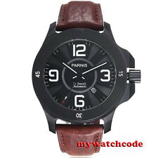 big face 47mm Parnis black dial PVD Sapphire Glass Automatic mens Watch 571B