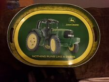 John Deere Tractor Collectible Oval Shaped Tin Serving Tray