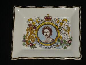 Commemorative Small Rectangular Dish Queen Elizabeth II Silver Jubilee 1977