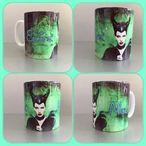 personalised mug cup maleficent magic angelina jolie disney villan sleeping beau