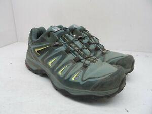 Salmon Women's X ULTRA 3 GTX W Trail Shoe Artic/Darkest Spruce/Sunny Lime 6M