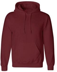 Men Women Hoodie Sweatshirt Pullover Hoody Hooded Plain Jumper Casual Coat Tops