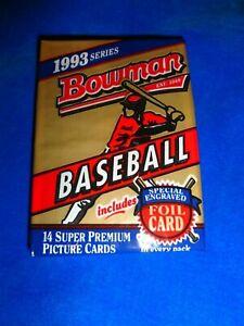 1993 Bowman Baseball Pack Fresh from Box! Jeter RC Year (SC3,46)
