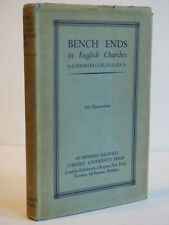 J. Charles Fox BENCH ENDS IN ENGLISH CHURCHES Oxford UP 1916 HCDJ Very Good