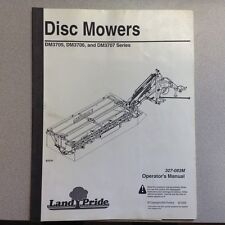 LAND PRIDE DM3705 DM3706 DM3707 DISC MOWER OPERATORS MANUAL