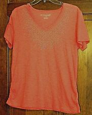 VERY NICE WOMENS/GIRLS EMBELLISHED WATERMELON TOP BY ERIKASPORT SIZE SMALL