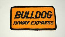 Vintage Bulldog Hiway Express Transportation Trucking Cloth Patch New NOS 1970s