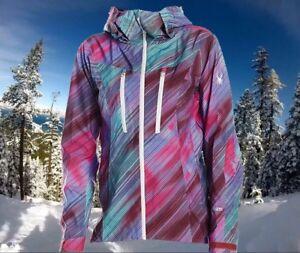 Spyder Womens Medium Waterproof Ski Snowboarding Technical Shell Jacket $500
