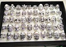 30x Skull Skeleton Gothic Rings Men's Rock Punk style rings Whoelsale Jewelry