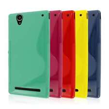 for Sony Xperia Z1 C6906 S-Shape Flexible TPU Gel Soft Skin Case Cover Protector