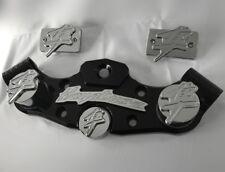 08-18 Hayabusa 3D Black/Chrome Lowering Triple Tree 3D Reservoir/Fork/Yoke Caps!