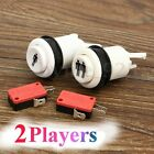 2Pcs Arcade Machine Game Push Buttons + Microswitch Red for DIY 1 & 2 Player