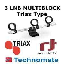 3 LNB Multiblock Holder Triax Technomate Inverto SAB Satellite Dish Multi Feed