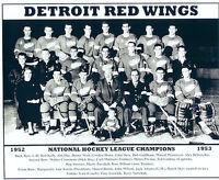 1952 1953 DETROIT RED WINGS 8X10 TEAM PHOTO HOCKEY NHL HOWE STANLEY CUP MICHIGAN