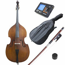 Cecilio Size 3/4 Acoustic Upright Double Bass +Case+Bow ~3/4CDB-100