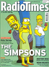 Radio Times Doctor Who, The Simpsons, Sean Bean, Ricky Gervais 22/04/06