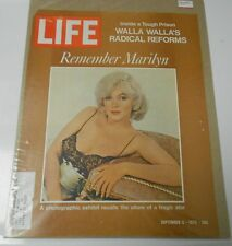 1972 LIFE Magazine DEATH OF MARILYN MONROE Cover ONLY Clipping 10x13