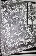 3016 Vintage Filet JIFFY CLOTH & SCARF Pattern to Crochet (Reproduction)