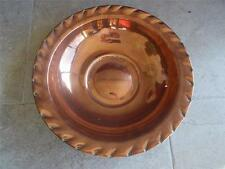 19th Century Elizabethan Style ANTIQUE HANDMADE COPPER BOWL CENTREPIECE CHARGER