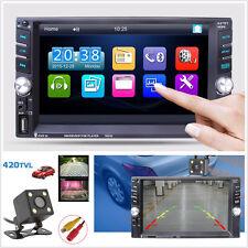 "7651D Car MP5 MP3 Player Camera 6.6"" HD Touch Screen 2DIN Bluetooth FM Radio AUX"