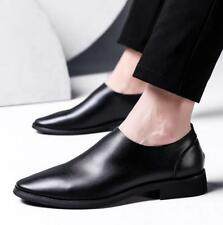 Black Men's Leather slip on Loafer Point Toe Casual nightclub Dress Formal Shoes