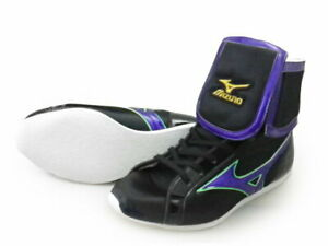 Mizuno Boxing Shoes Short Black × Purple × Flash green Made in JAPAN BTO F/S