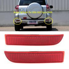 Set Left Right Side Rear Bumper Reflector Light For Toyota RAV4 2006 07 08-2012