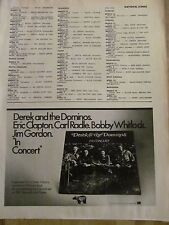 Derek and the Dominos, In Concert, Vintage Promotional Ad