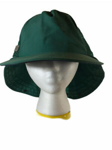 Vintage Columbia Sportswear Neck Cover Green Fishing Hat Cap L Made in USA