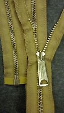 "1-ZIPPER USA Vtg ""TALON BELL LONG-TAB""Jacket/Separating #5Metal BRASS=23""GOLD"