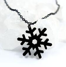 Black Snowflake Kette • Schnee Schneeflocke Winter Weihnachten Goth Gothic Witch