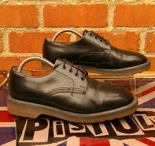 Made in England Vintage Dr.Martens Black 4 eye shoes UK 6 Martins Oi! Punk Skin