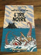 CARTE POSTALE TINTIN  HOMMAGE A HERGE PASTICHE L'IRE NOIRE
