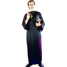 Priest Vicar Men's Fancy Dress Costume Black