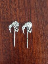 new zealand rugby league pin badge x2