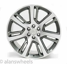 "4 NEW Cadillac Escalade ESV EXT Gunmetal Machined Face 24"" Wheels Rims Lugs 4738"