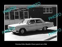 OLD 8x6 HISTORIC AUSTRALIAN PHOTO OF VICTORIAN POLICE RAMBLER CLASSIC CAR 1966