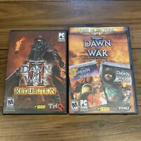 Dawn Of War 2 Retrobution & Dawn Of War Gold Edition Lot Complete
